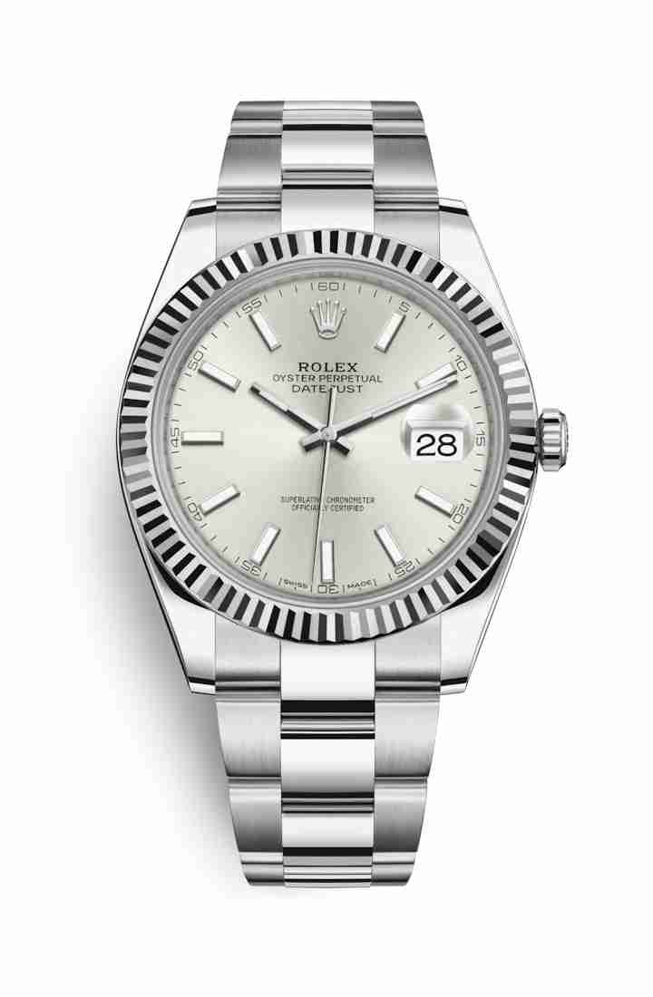 Rolex Datejust 41 White gold 126334 Silver Dial Watch Replica