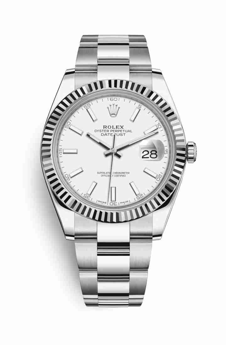 Rolex Datejust 41 White gold 126334 White Dial Watch Replica
