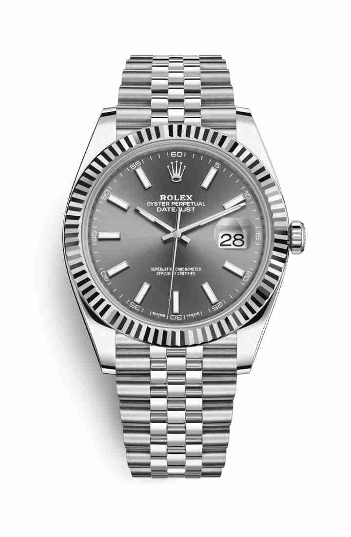 Rolex Datejust 41 White gold 126334 Dark rhodium Dial Watch Replica