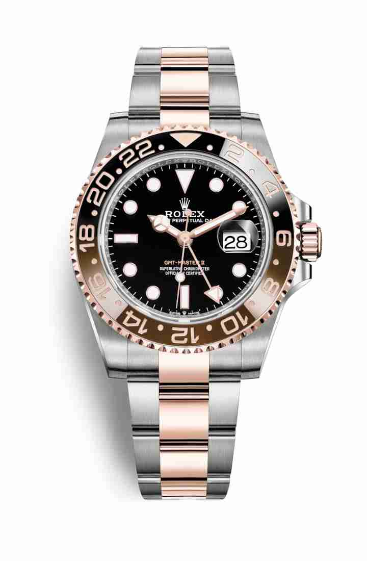 Rolex GMT-Master II Everose gold 126711CHNR Black Dial Watch Replica