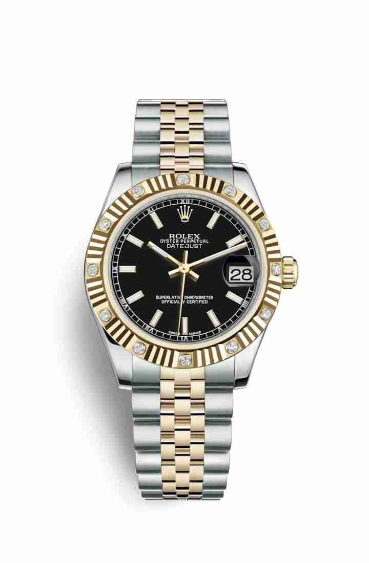 Rolex Datejust 31 Yellow 178313 Black Dial Watch Replica