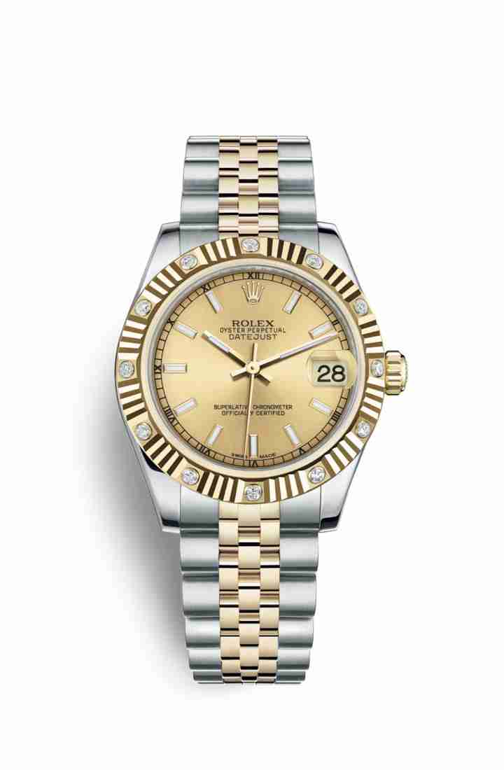 Rolex Datejust 31 Yellow 178313 Champagne Dial Watch Replica