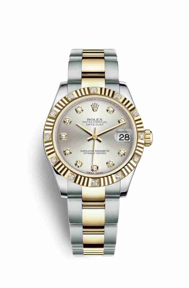 Rolex Datejust 31 Yellow 178313 Silver diamonds Watch Replica