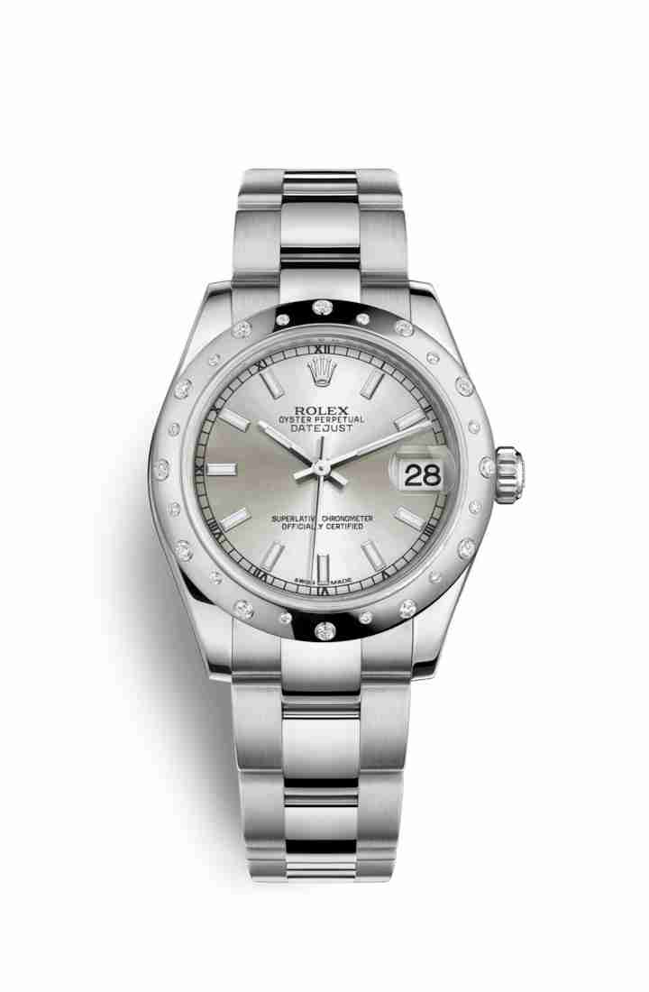 Rolex Datejust 31 White gold 178344 Silver Dial Watch Replica