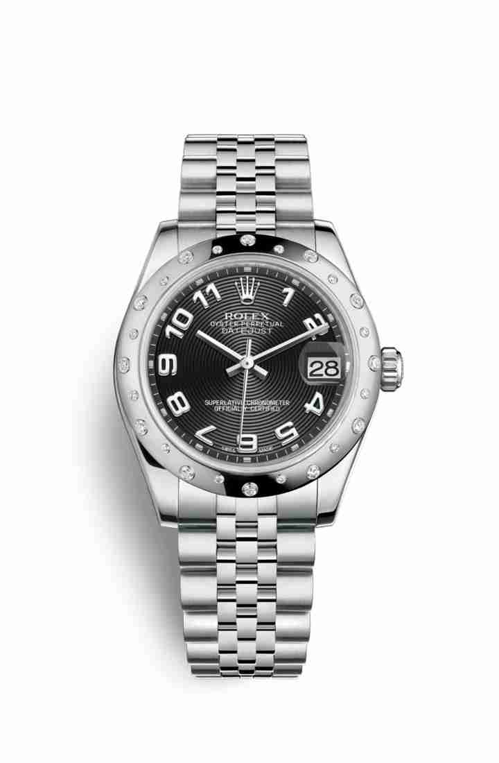Rolex Datejust 31 White gold 178344 Black Dial Watch Replica