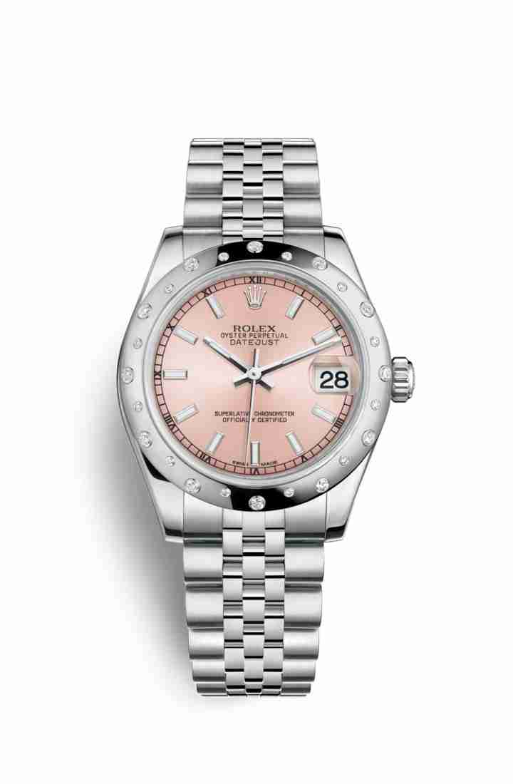 Rolex Datejust 31 White gold 178344 Pink Dial Watch Replica