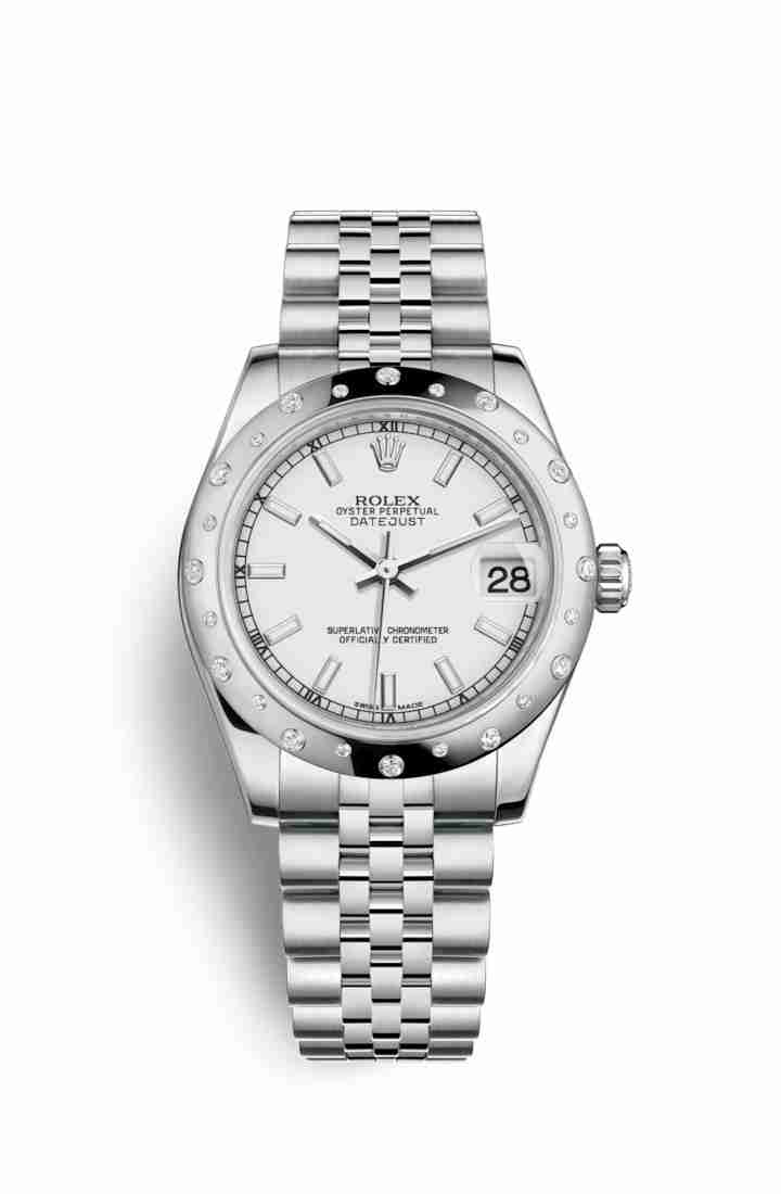 Rolex Datejust 31 White gold 178344 White Dial Watch Replica