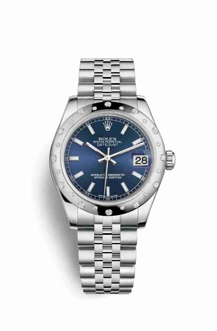 Rolex Datejust 31 White gold 178344 Blue Dial Watch Replica