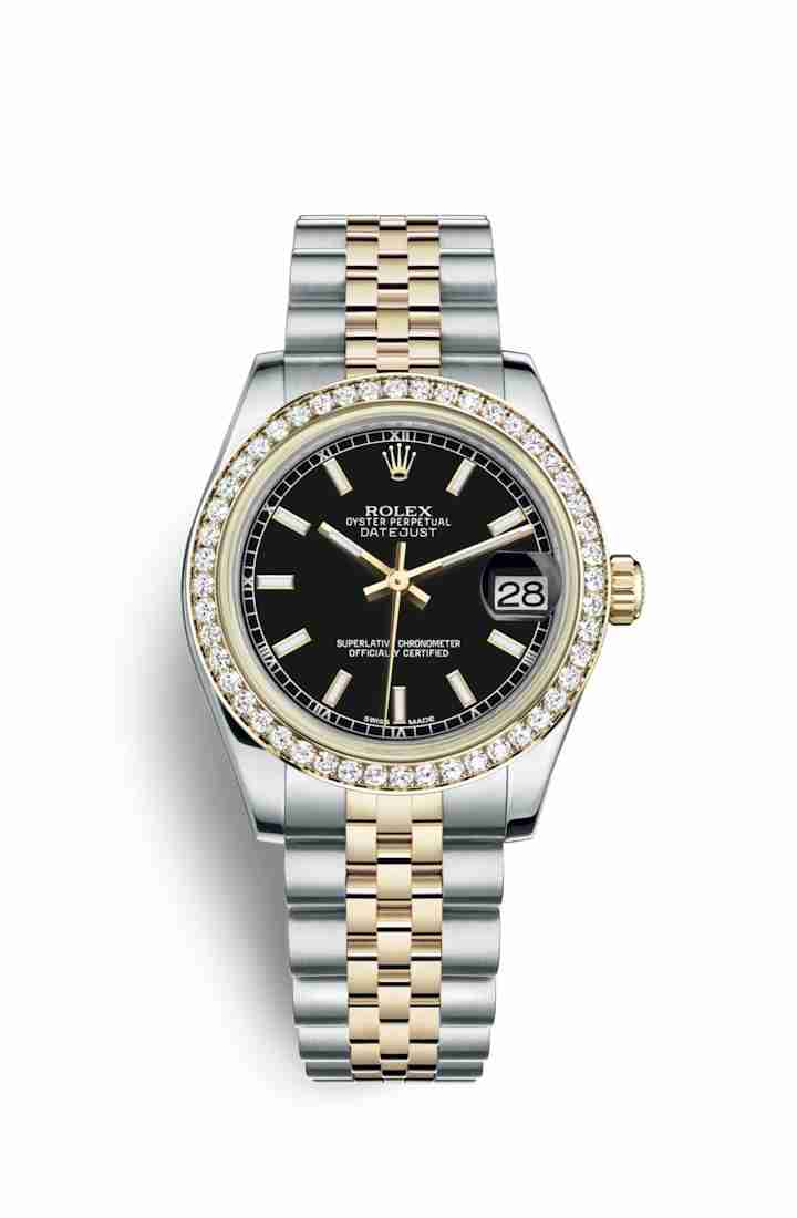 Rolex Datejust 31 Yellow 178383 Black Dial Watch Replica