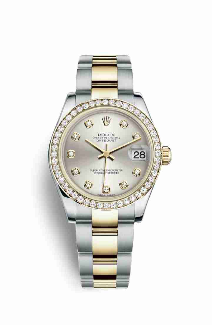 Rolex Datejust 31 Yellow 178383 Silver diamonds Watch Replica