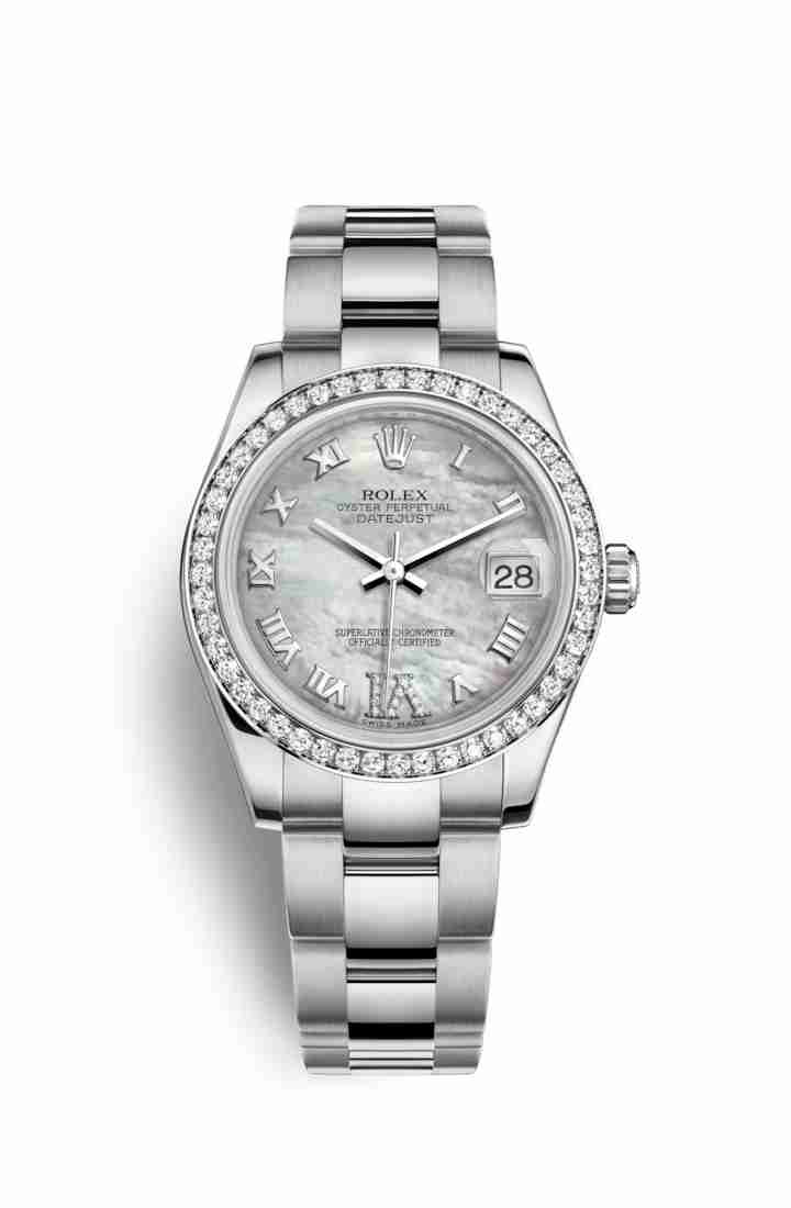 Rolex Datejust 31 White gold 178384 White mother-of-pearl diamonds Watch Replica