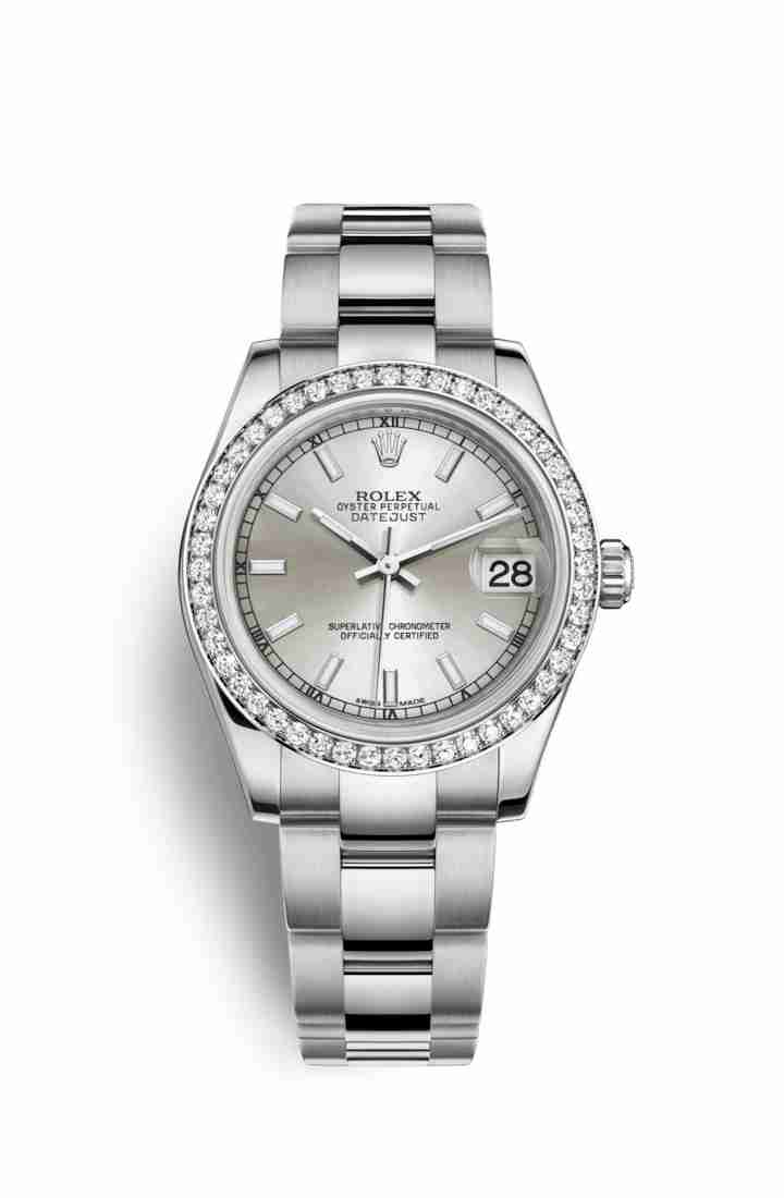 Rolex Datejust 31 White gold 178384 Silver Dial Watch Replica