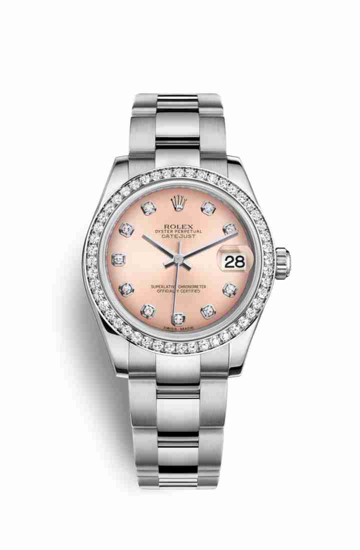 Rolex Datejust 31 White gold 178384 Pink diamonds Watch Replica