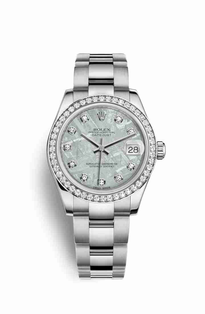 Rolex Datejust 31 White gold 178384 Meteorite diamonds Watch Replica