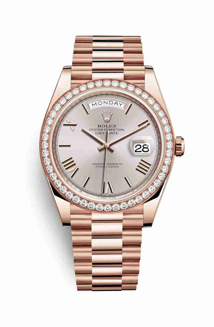 Rolex Day-Date 40 Everose gold 228345RBR Sundust Dial Watch Replica