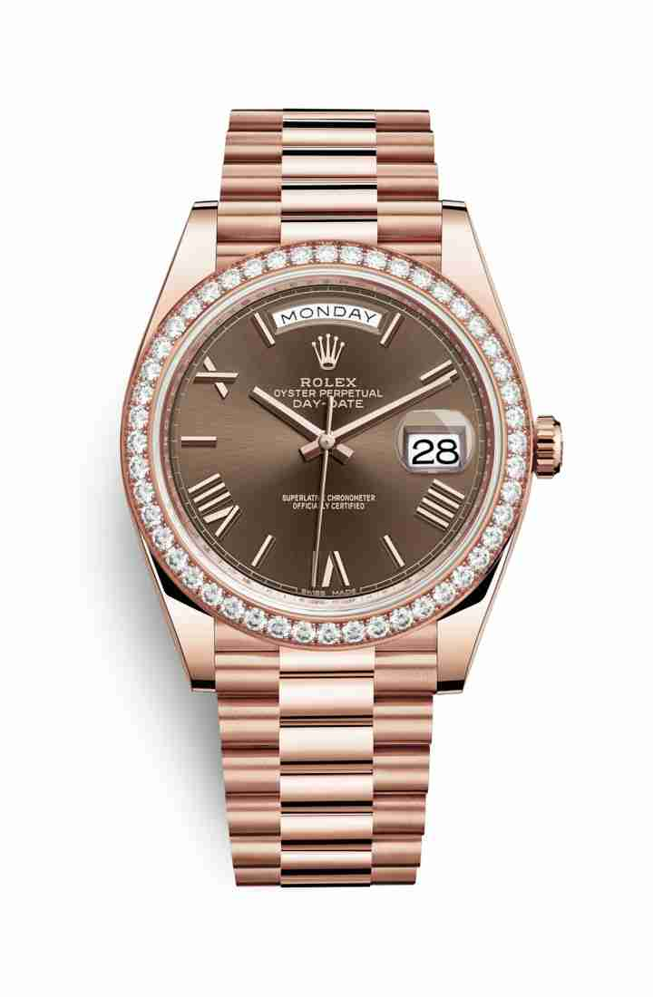 Rolex Day-Date 40 Everose gold 228345RBR Chocolate Dial Watch Replica