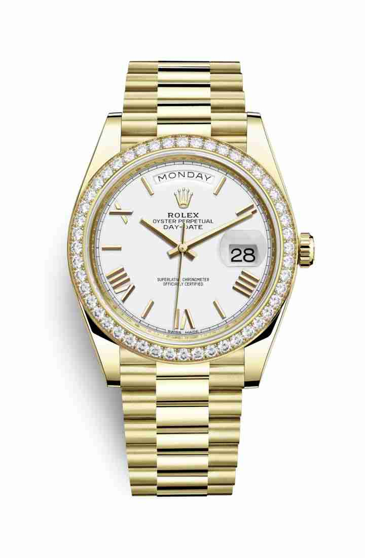Rolex Day-Date 40 228348RBR White Dial Watch Replica
