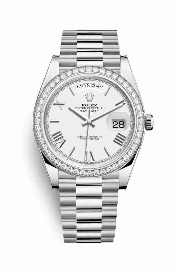 Rolex Day-Date 40 228349RBR White Dial Watch Replica