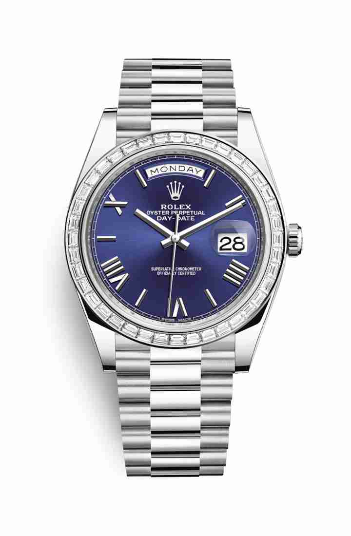 Rolex Day-Date 40 Platinum 228396TBR Blue Dial Watch Replica