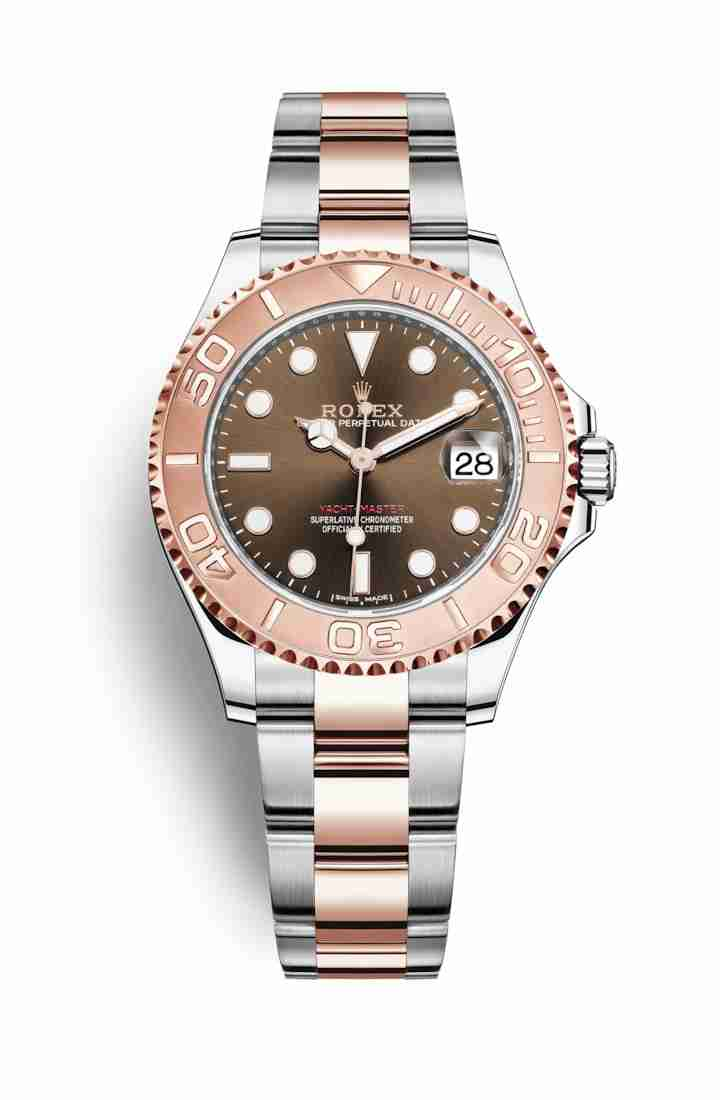 Rolex Yacht-Master 37 Everose gold 268621 Chocolate Dial Watch Replica