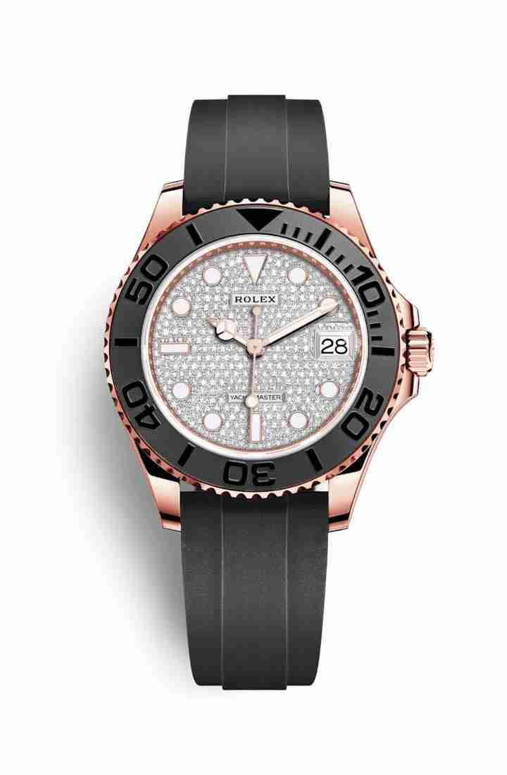 Rolex Yacht-Master 37 Everose gold 268655 Diamond-paved Dial Watch Replica