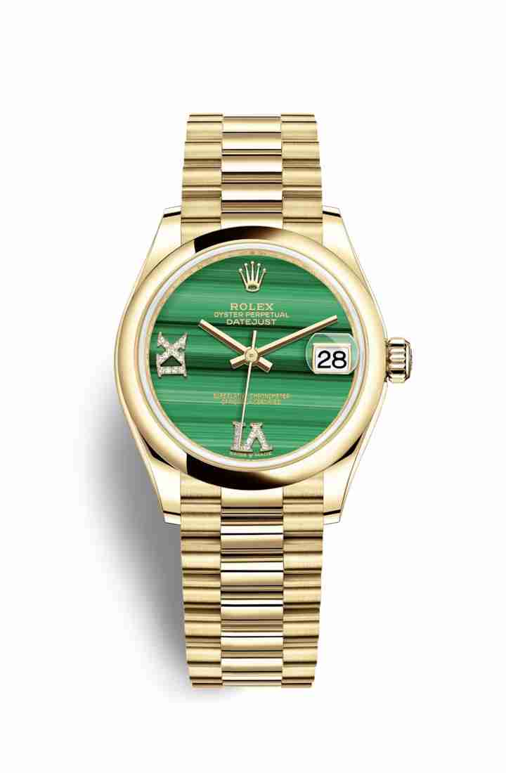 Rolex Datejust 31 278248 Malachite diamonds Watch Replica
