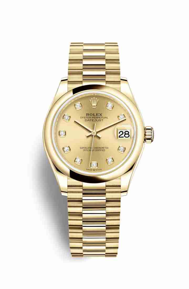 Rolex Datejust 31 278248 Champagne diamonds Watch Replica