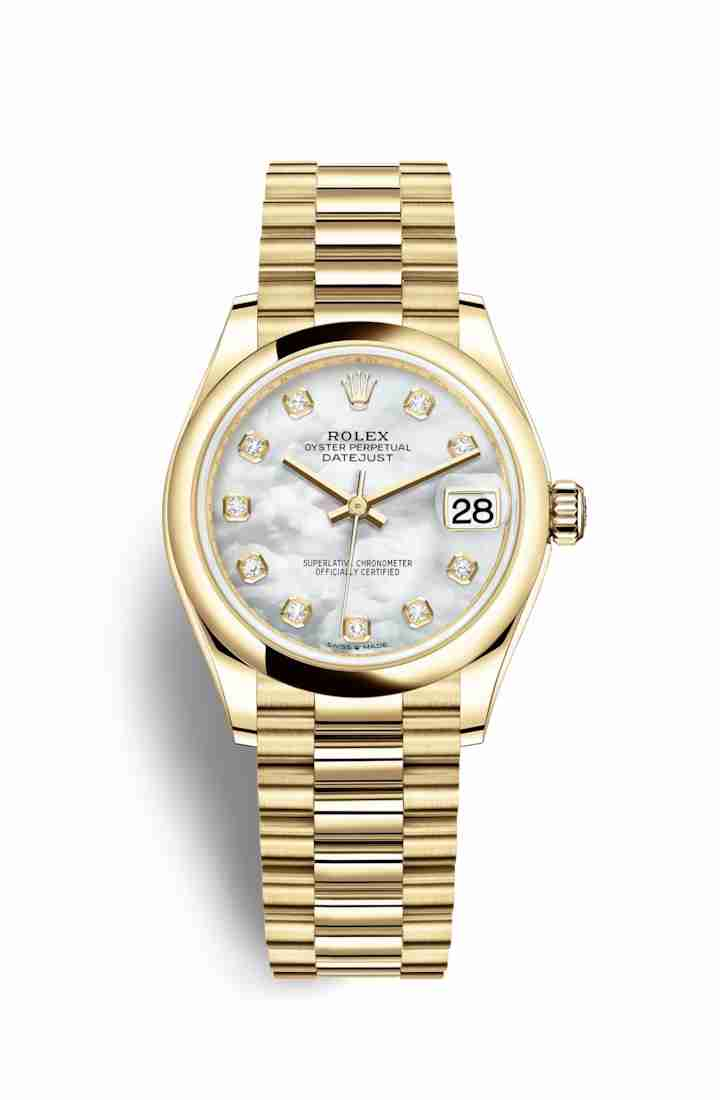 Rolex Datejust 31 278248 White mother-of-pearl diamonds Watch Replica - Click Image to Close