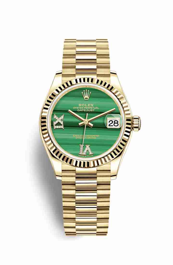 Rolex Datejust 31 278278 Malachite diamonds Watch Replica
