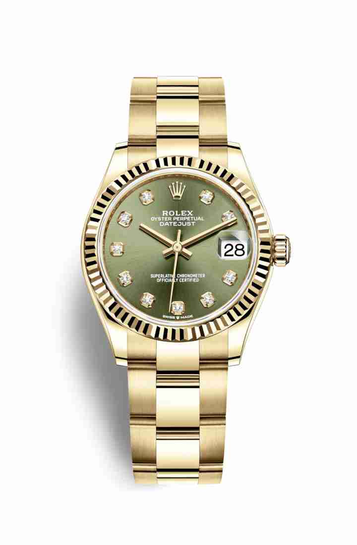 Rolex Datejust 31 278278 Olive green diamonds Watch Replica