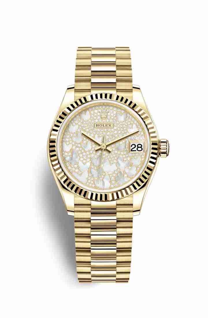 Rolex Datejust 31 278278 Paved mother-of-pearl butterfly Dial Watch Replica