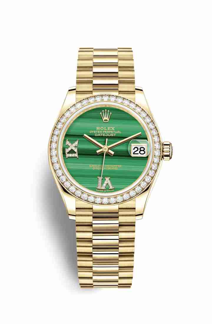 Rolex Datejust 31 278288RBR Malachite diamonds Watch Replica