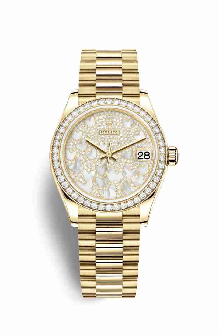 Rolex Datejust 31 278288RBR Paved mother-of-pearl butterfly Dial Watch Replica