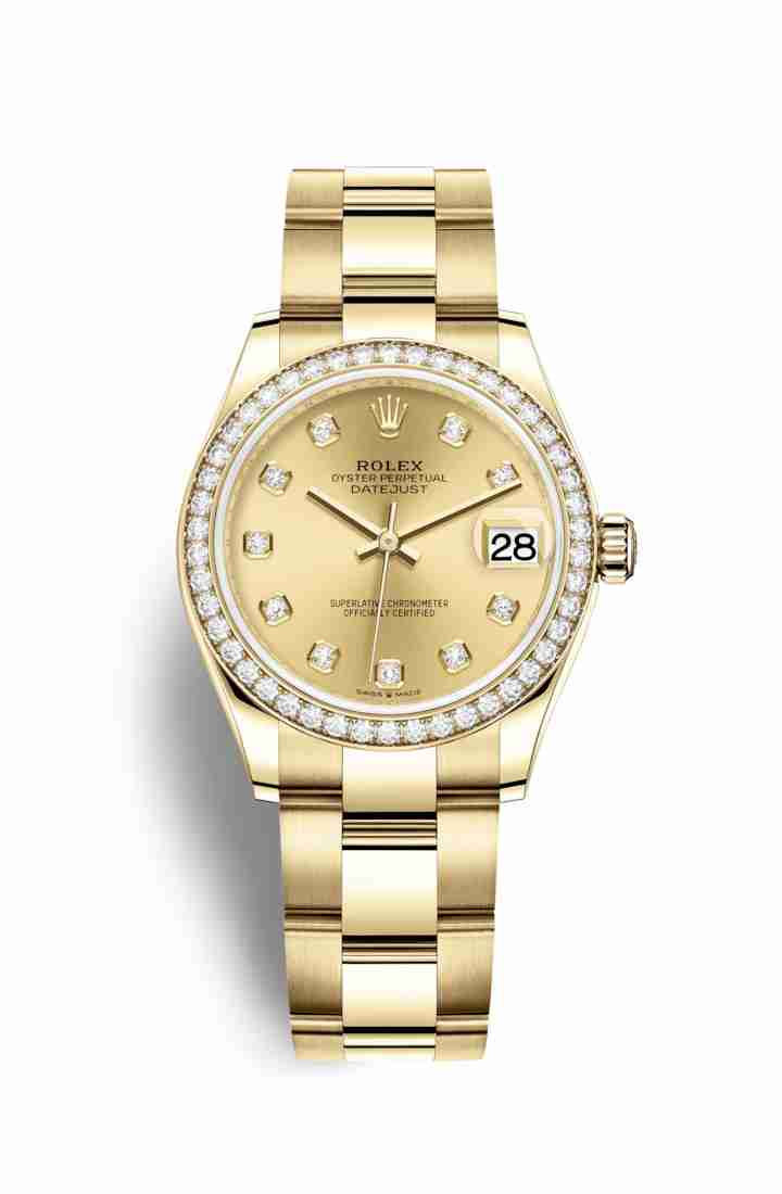 Rolex Datejust 31 278288RBR Champagne diamonds Watch Replica