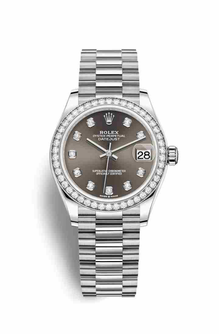 Rolex Datejust 31 278289RBR Dark grey diamonds Watch Replica