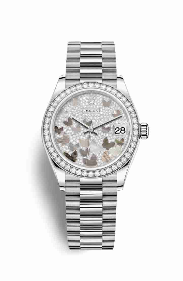 Rolex Datejust 31 278289RBR Paved mother-of-pearl butterfly Dial Watch Replica