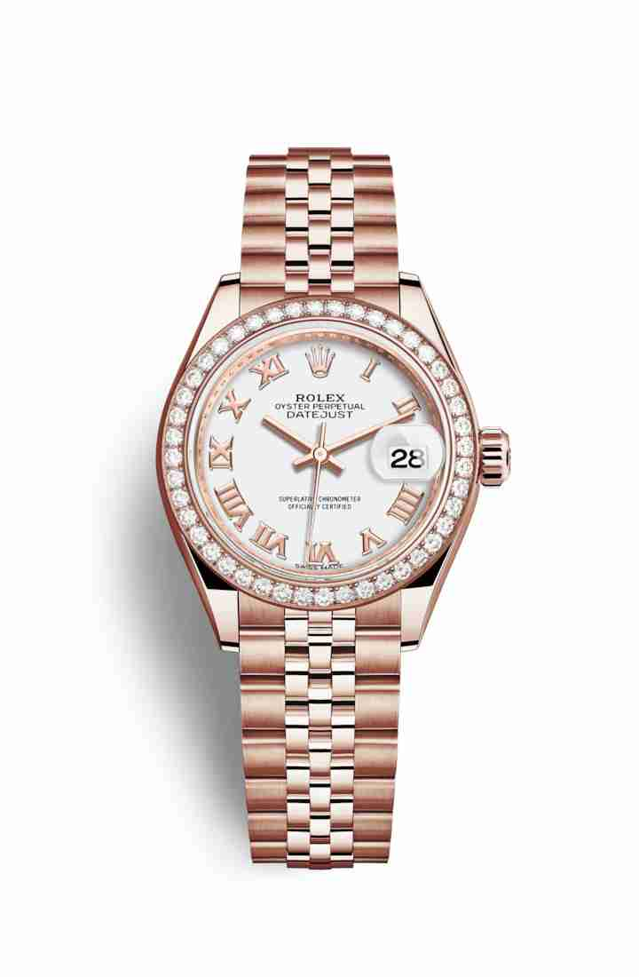 Rolex Datejust 28 Everose gold 279135RBR White Dial Watch Replica