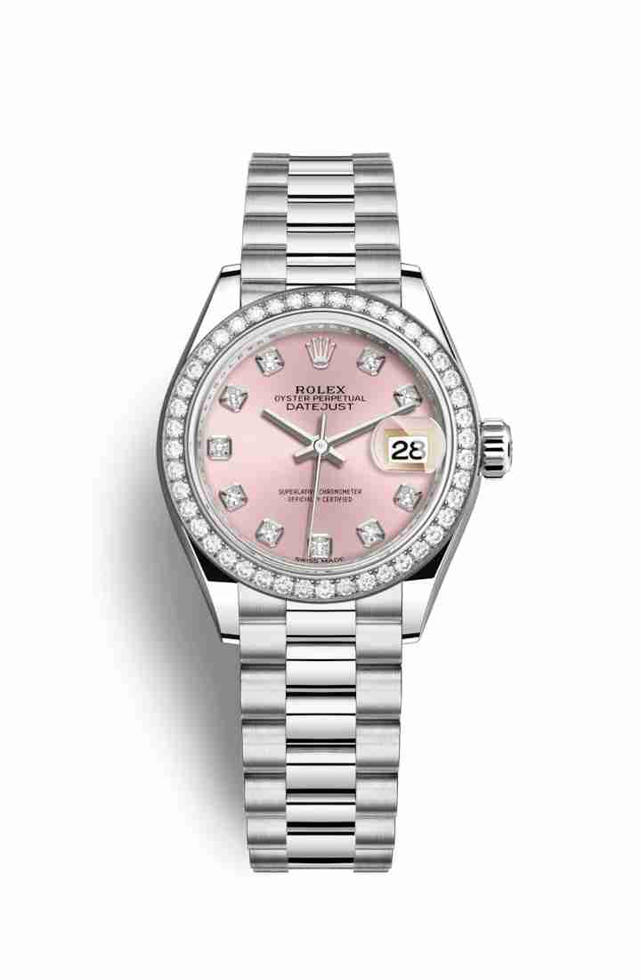 Rolex Datejust 28 Platinum 279136RBR Pink diamonds Watch Replica