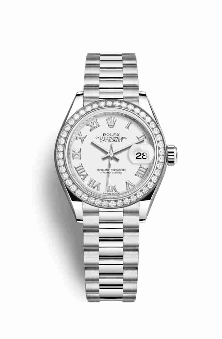 Rolex Datejust 28 Platinum 279136RBR White Dial Watch Replica