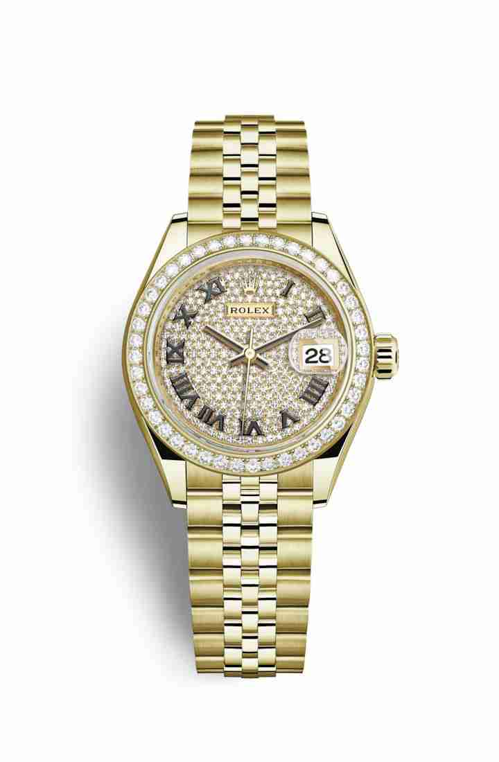 Rolex Datejust 28 279138RBR Diamond-paved Dial Watch Replica