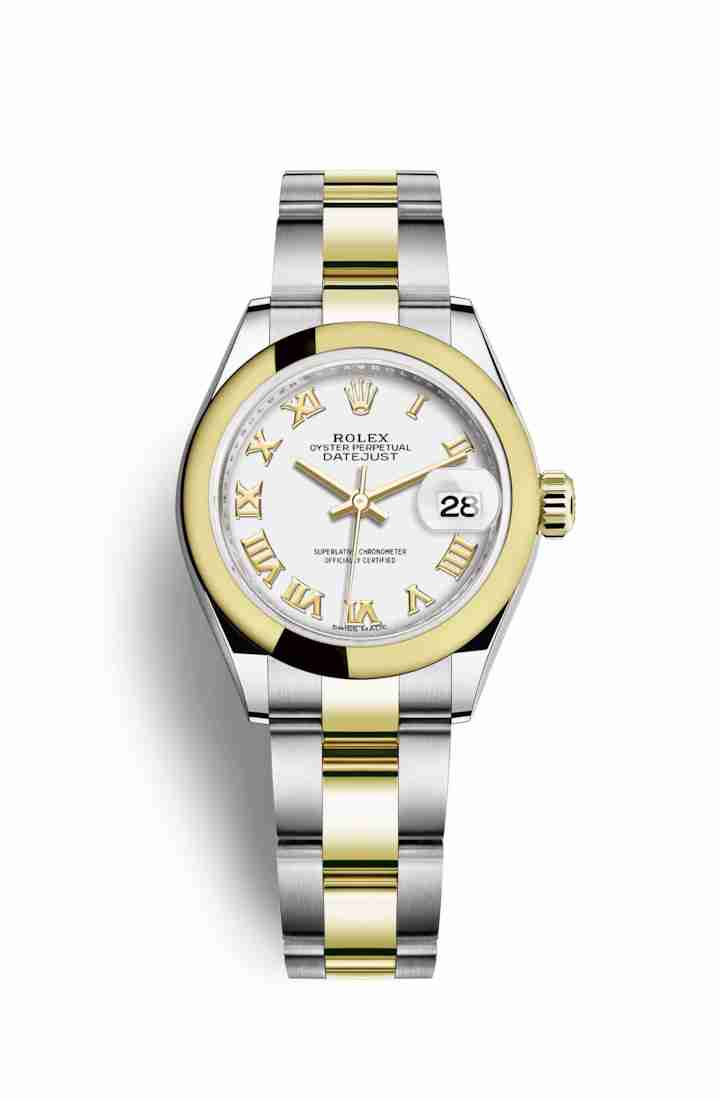 Rolex Datejust 28 Yellow 279163 White Dial Watch Replica