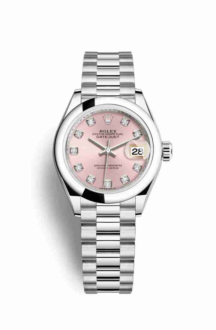 Rolex Datejust 28 Platinum 279166 Pink diamonds Watch Replica