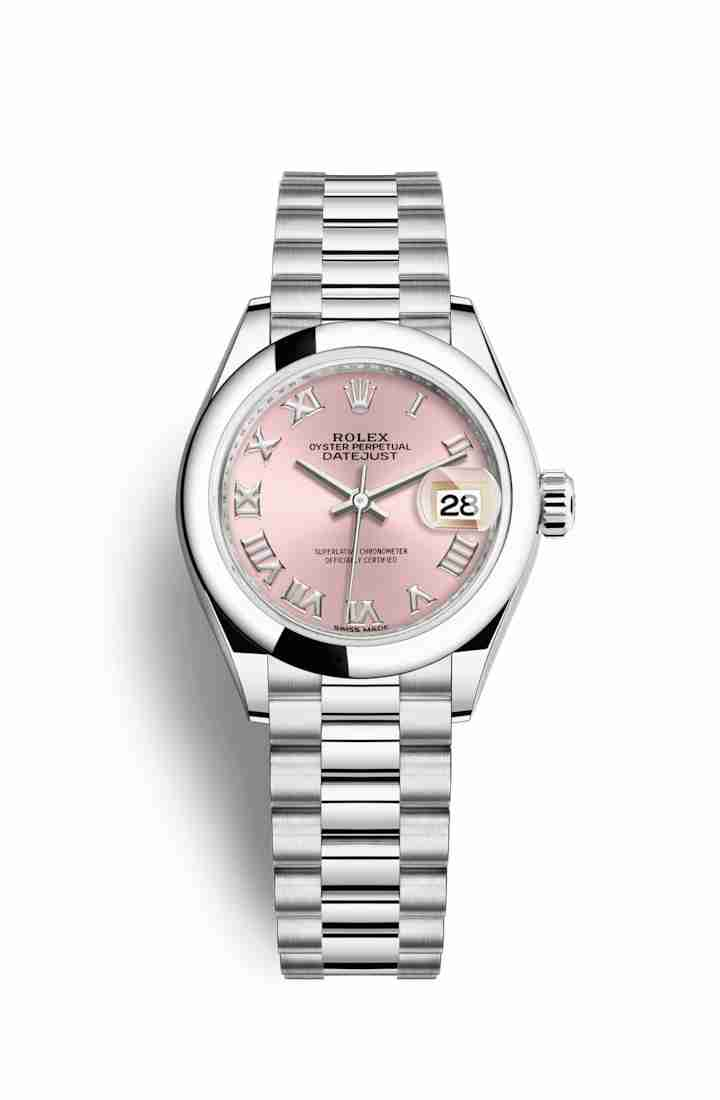 Rolex Datejust 28 Platinum 279166 Pink Dial Watch Replica