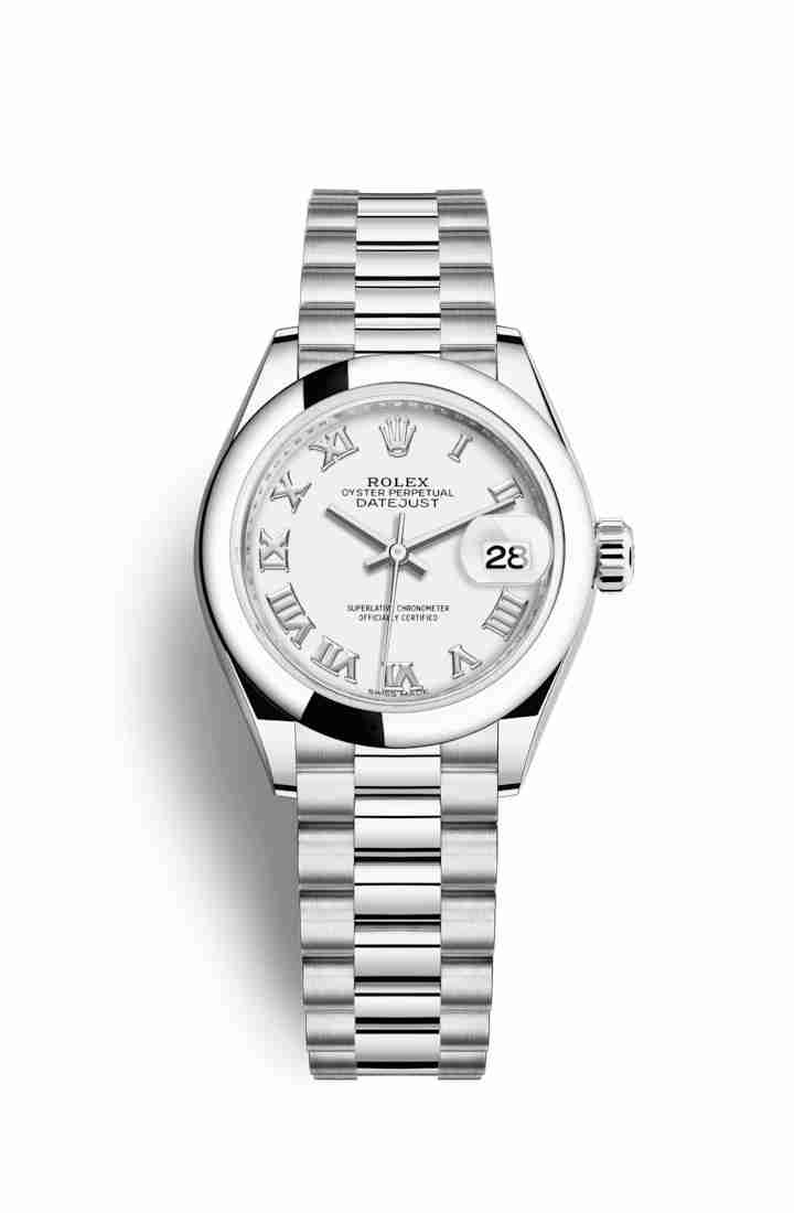 Rolex Datejust 28 Platinum 279166 White Dial Watch Replica