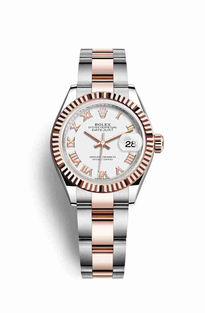 Rolex Datejust 28 Everose gold 279171 White Dial Watch Replica