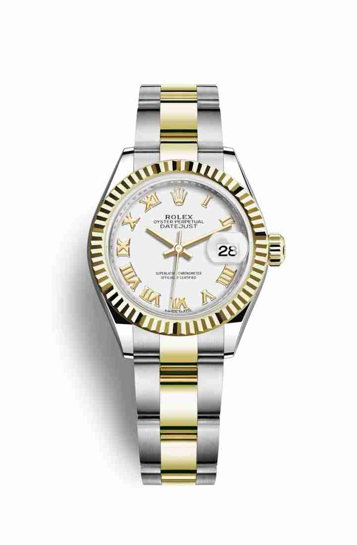 Rolex Datejust 28 Yellow 279173 White Dial Watch Replica
