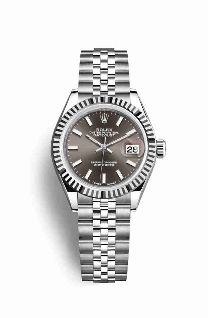 Rolex Datejust 28 White gold 279174 Dark grey Dial Watch Replica