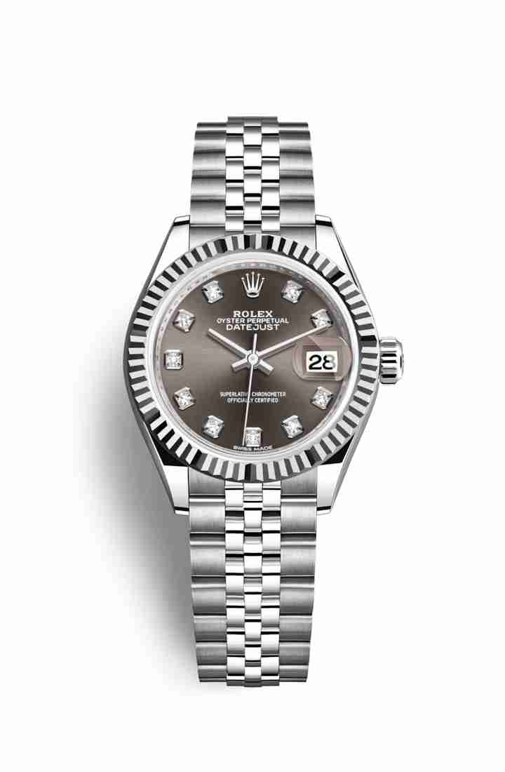Rolex Datejust 28 White gold 279174 Dark grey diamonds Watch Replica