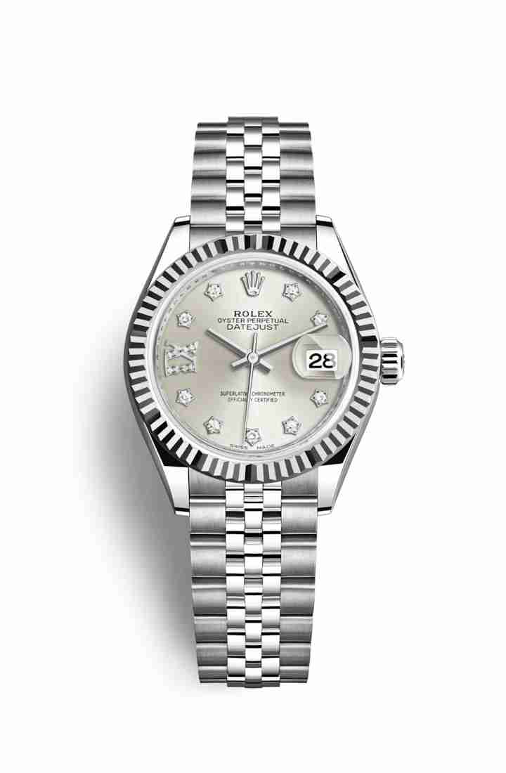 Rolex Datejust 28 White gold 279174 Silver diamonds Watch Replica