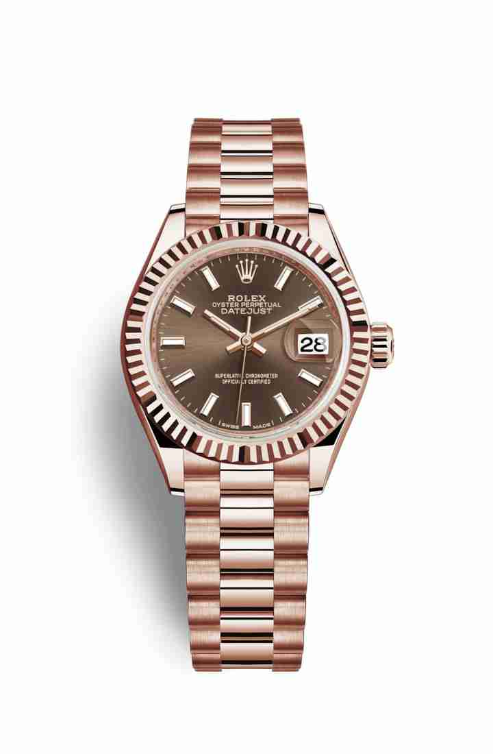 Rolex Datejust 28 Everose gold 279175 Chocolate Dial Watch Replica